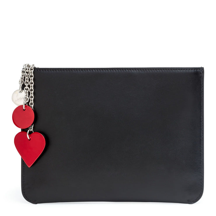 Loubicute black love print pouch
