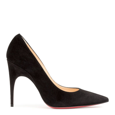 Alminette 100 black suede pumps