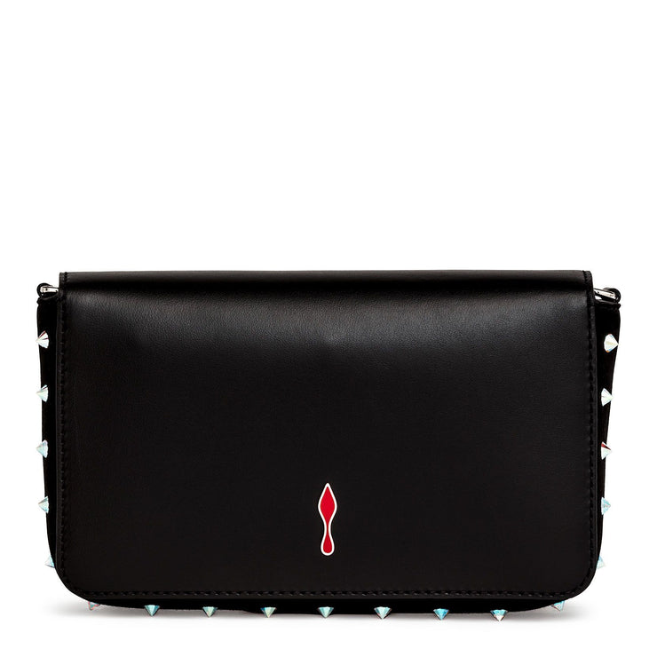 Zoompouch black leather and suede shoulder bag