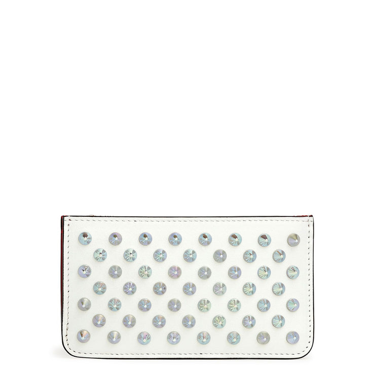 Credilou white leather card holder