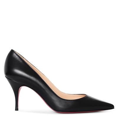 Clare 80 black nappa pumps