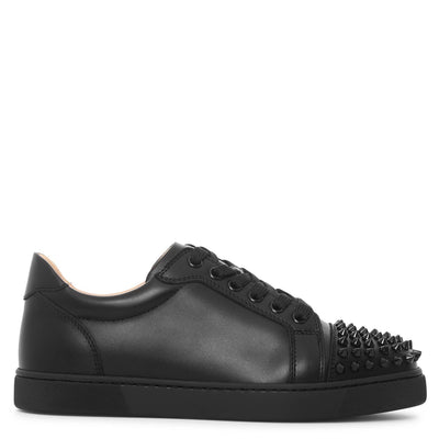 Vieira spikes black leather sneakers
