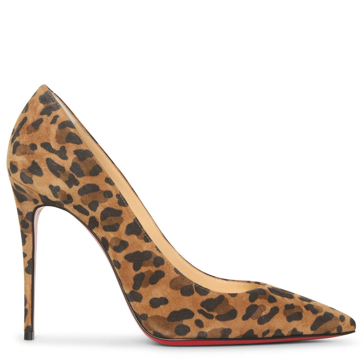 Kate 100 suede leopard pumps