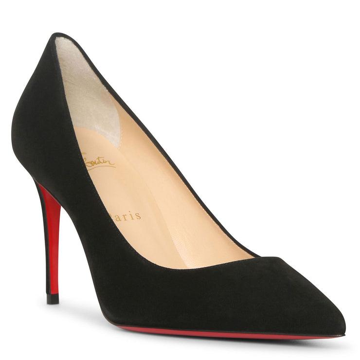 Kate 85 black suede pumps