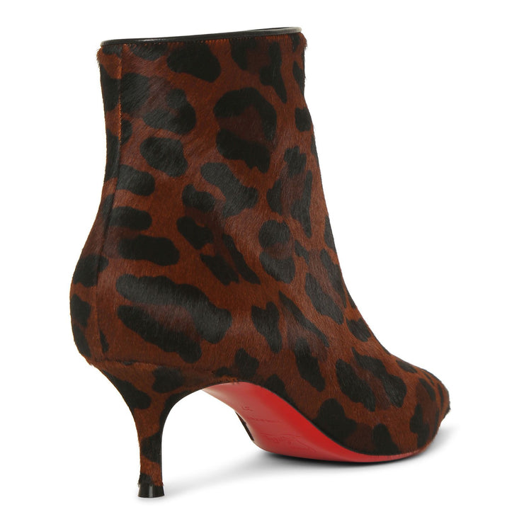 So Kate booty 55 leopard ankle boots