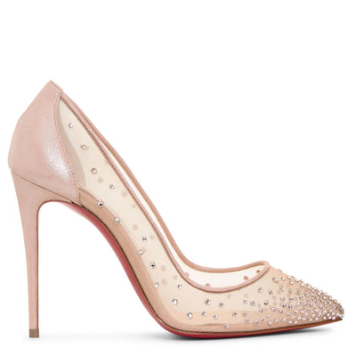 Follies Strass 100 suede pumps