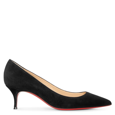 Kate 55 black suede pumps