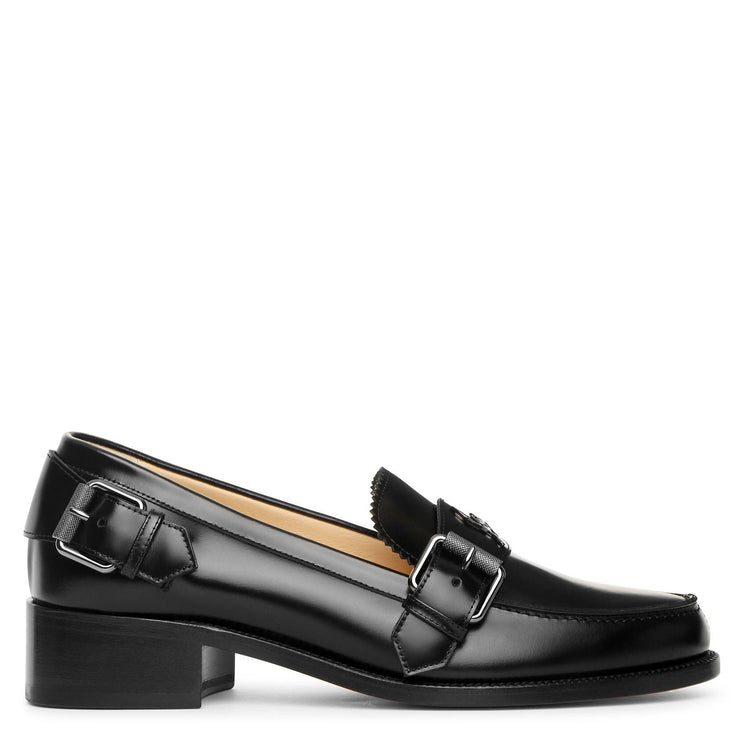 Monmoc Donna flat black loafer