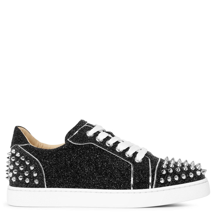 Vieira 2 black glitter leather sneakers
