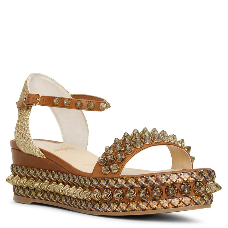 Cordorella 60 leather flatform sandals