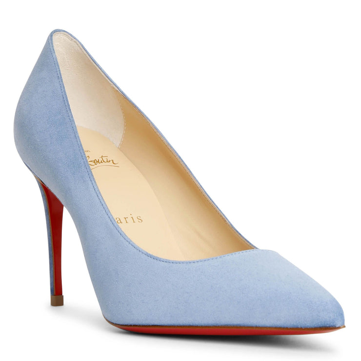 Kate 85 jeans blue suede pumps
