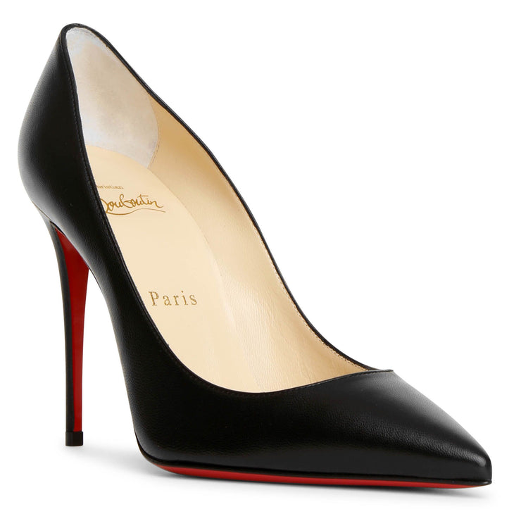Kate 100 black leather pumps