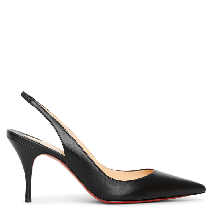 Clare sling 80 black leather pumps