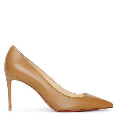 Kate 85 cafe creme leather pumps