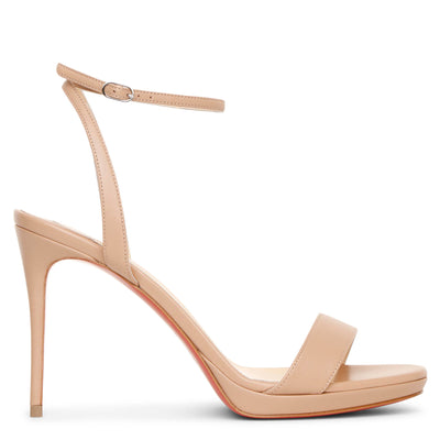 Loubi Queen 100 nude sandals