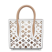 Paloma S Mini white leather tote bag