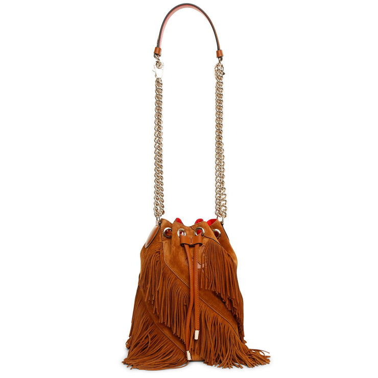 Marie Jane large suede bucket bag