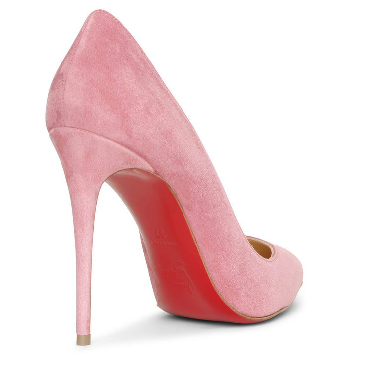 Pigalle Follies 100 pink suede pumps