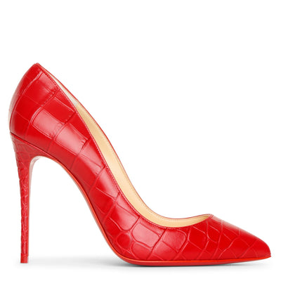 Pigalle Follies 100 red leather pumps