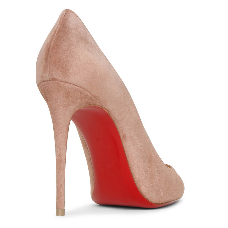 Kate 100 dark nude suede pumps