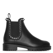 Crapahutta flat leather ankle boots