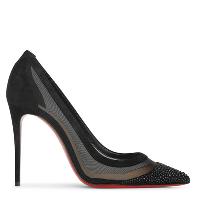 Galativi Strass 100 black suede pumps