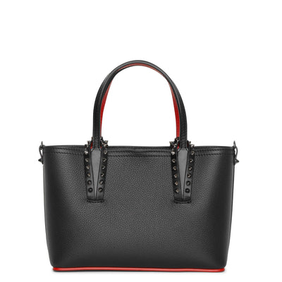 Cabata mini black leather tote bag