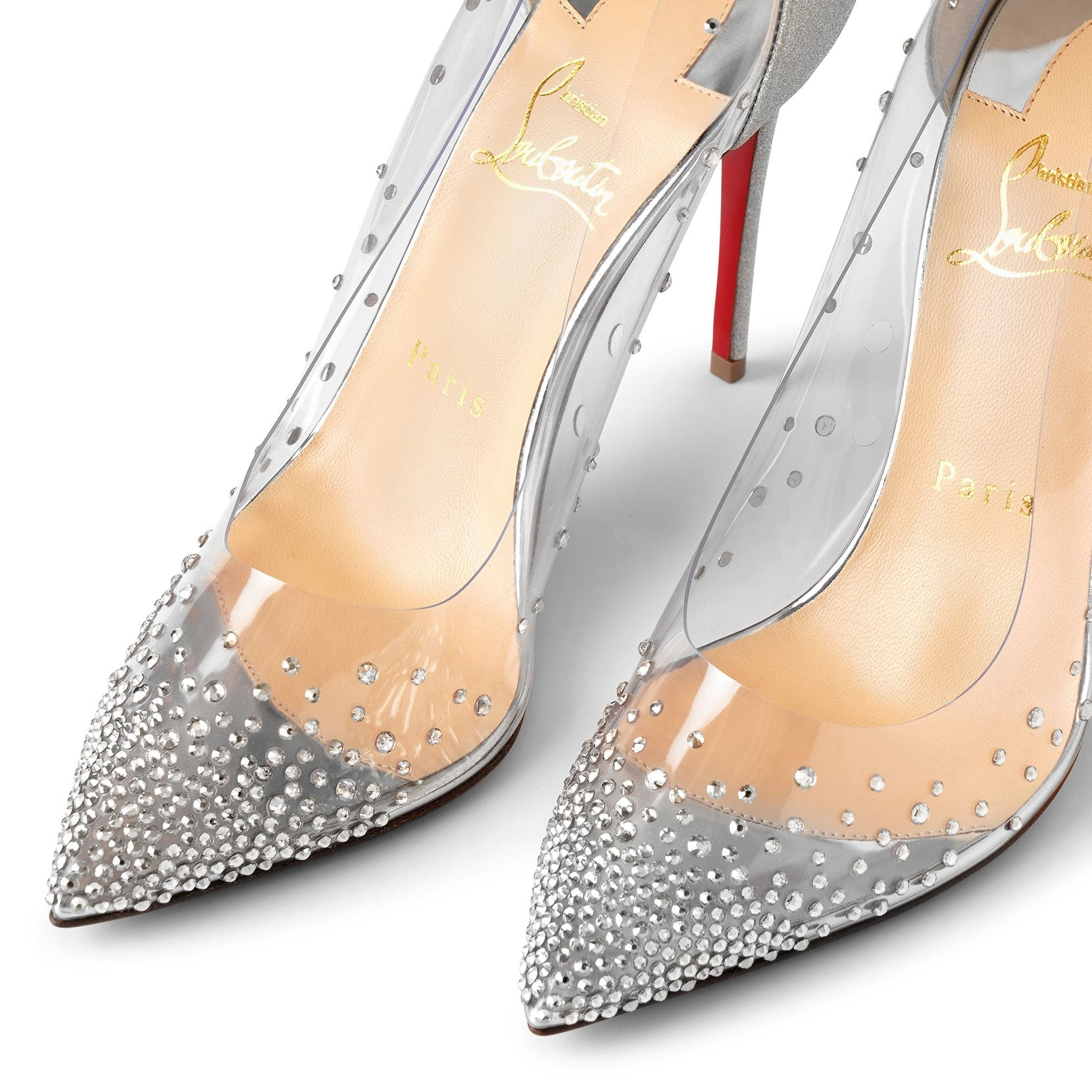 Degrastrass pvc 100 silver glitter pumps