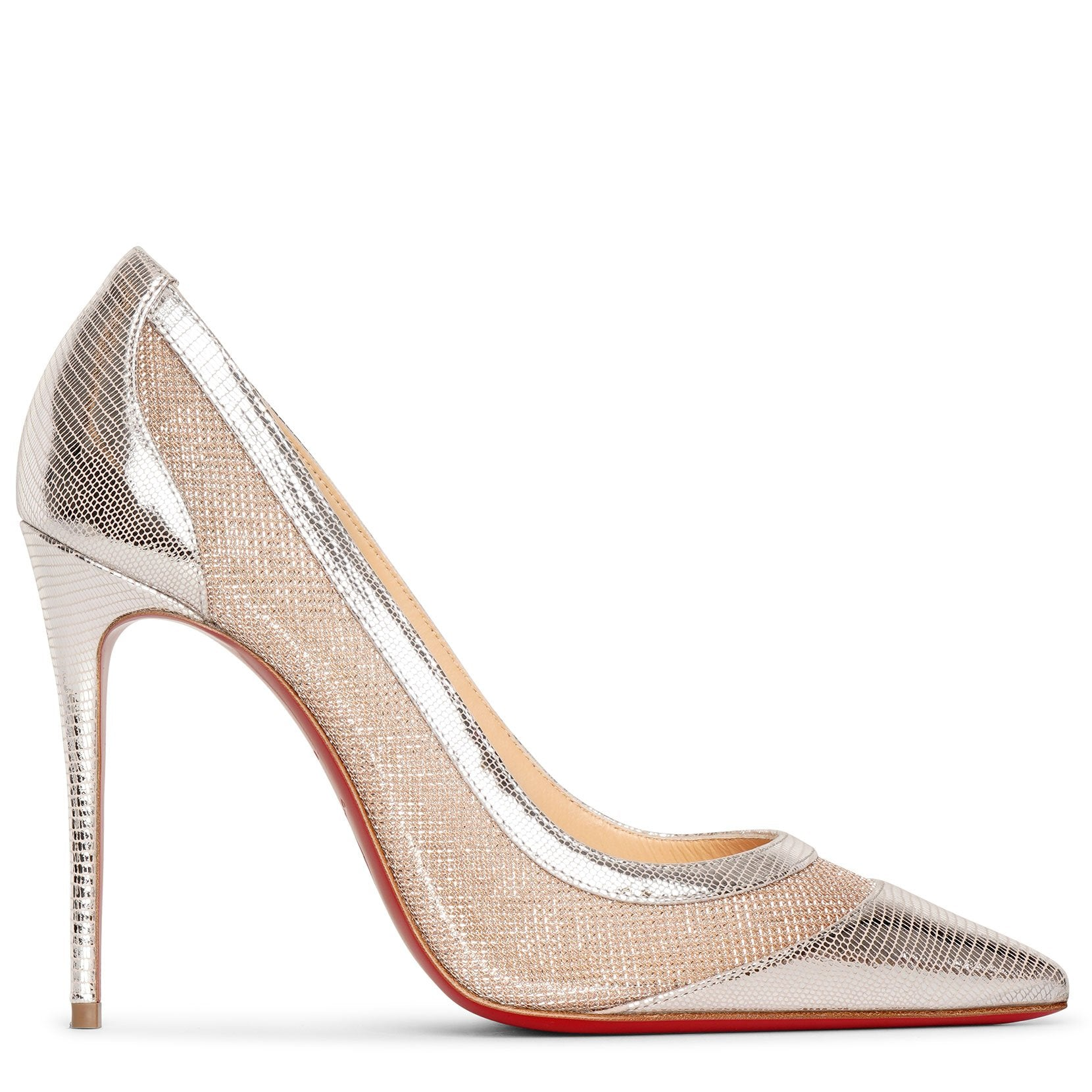 Christian Louboutin Galativi 100 metallic pumps