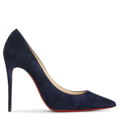 Kate 100 midnight blue suede pumps