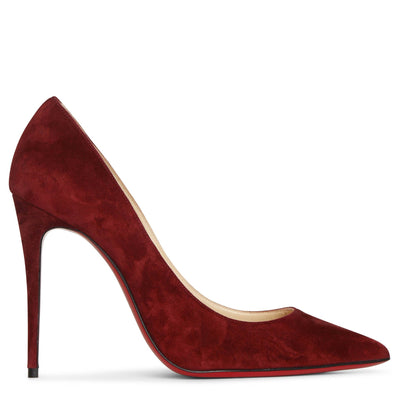 Kate 100 burgundy suede pumps