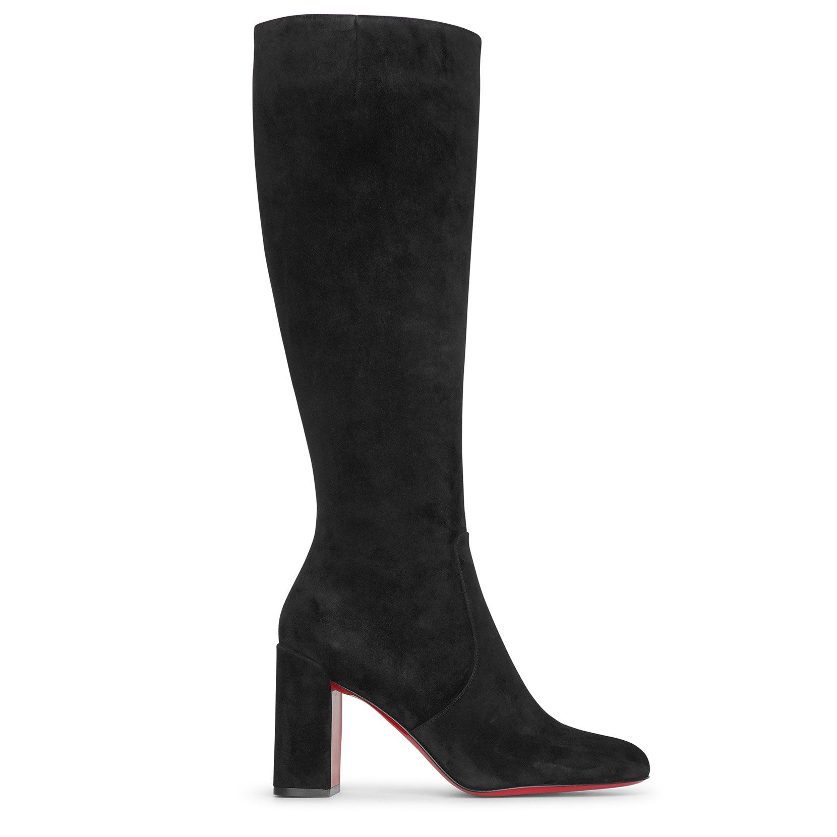 Christian Louboutin Suedes Cavalika 85 black suede boots