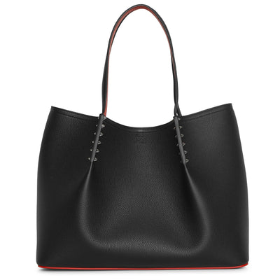Cabarock black calf leather tote