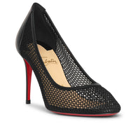 Filomena 85 mesh and leather pumps