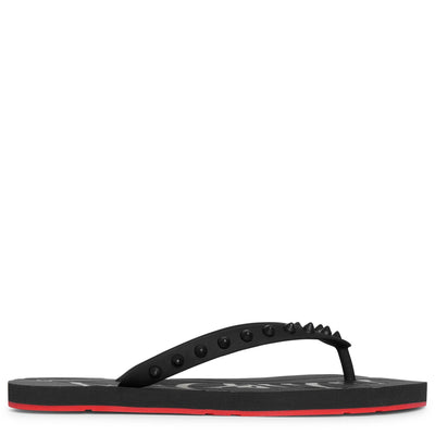 Loubi flip donna flat black sandals