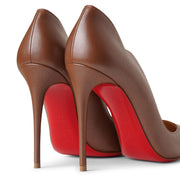 Hot Chick 100 brown nappa pumps