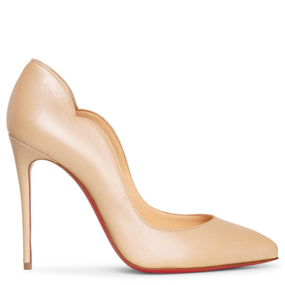 Hot Chick 100 beige nappa pumps