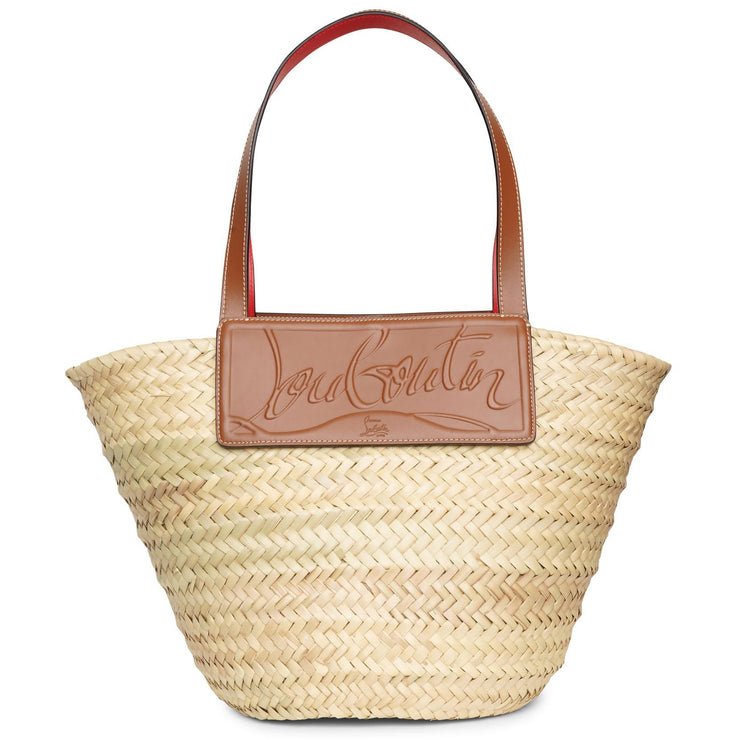 Loubi Shore nude 5 leather beach tote
