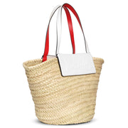 Loubi Shore white leather beach tote