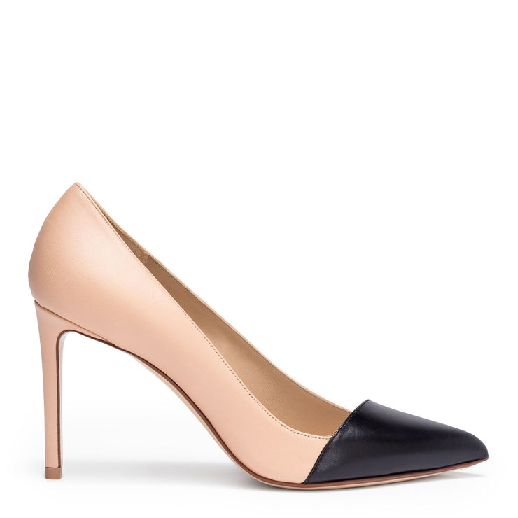 Two-tone 90 leather pumps