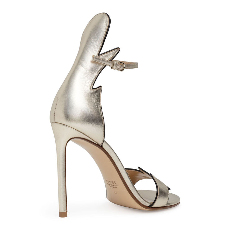 Metallic gold 105 flame sandals