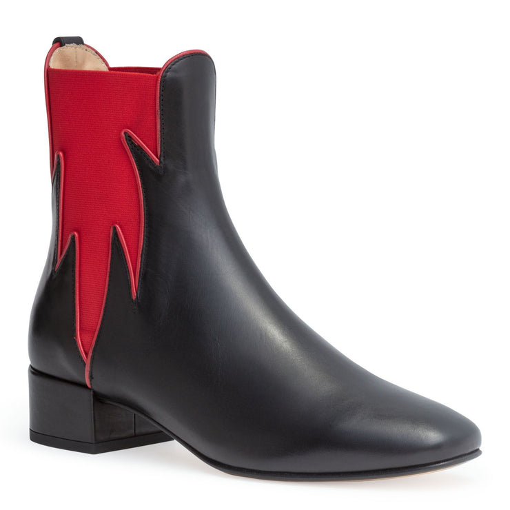 Black 30 flame boots