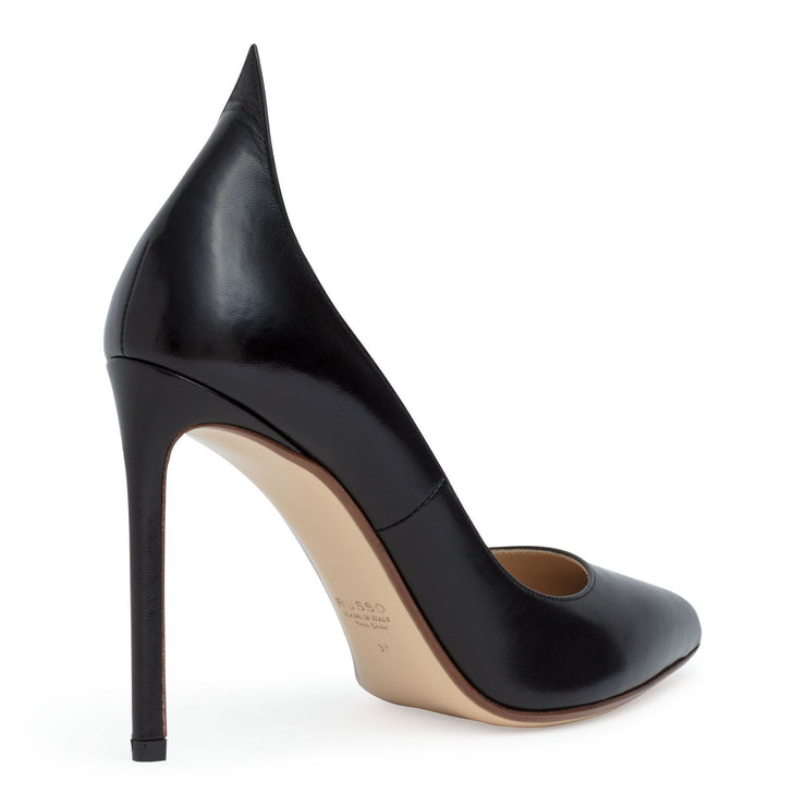 Black 105 leather pumps