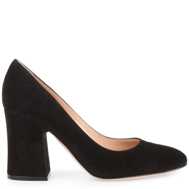 Black 85 suede pump