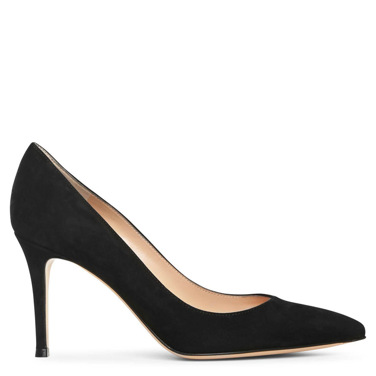 Gianvito 85 black suede pump