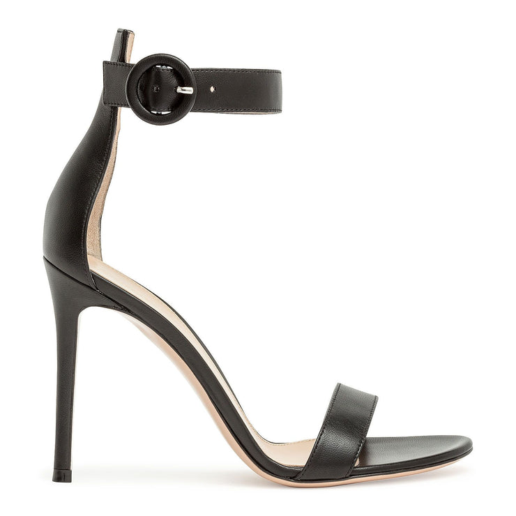 Portofino 105 black leather sandal
