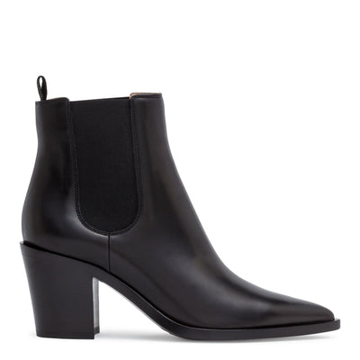 Romney 70 black leather pointed boots
