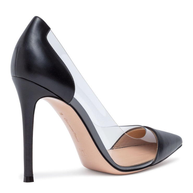 Plexi 105 black leather pumps