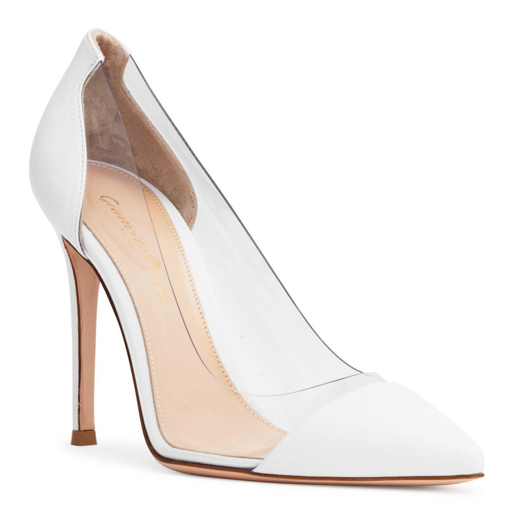 Plexi 105 White Leather Pumps