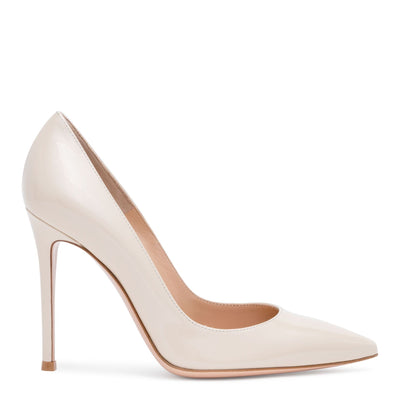 Gianvito 105 Light Beige Patent Leather Pumps